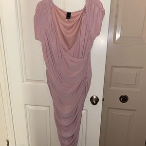 NWOT Surplice Ruched dress